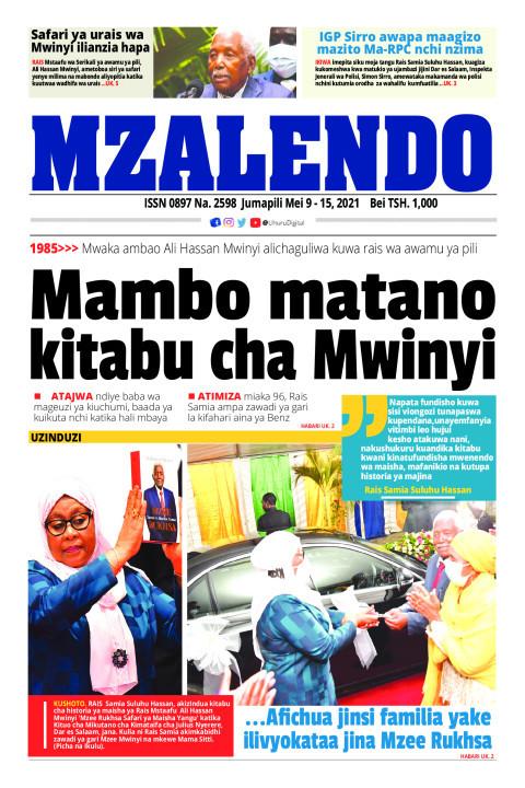 Mambo matano kitabu cha Mwinyi | Mzalendo