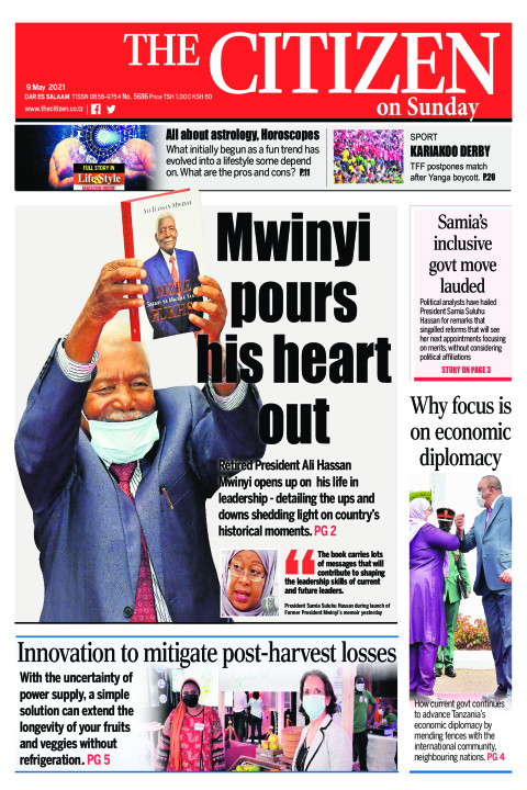 MWINYI POURS HIS HEART OUT