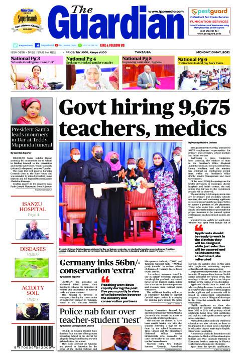 Govt hiring 9,675 teachers, medics | The Guardian