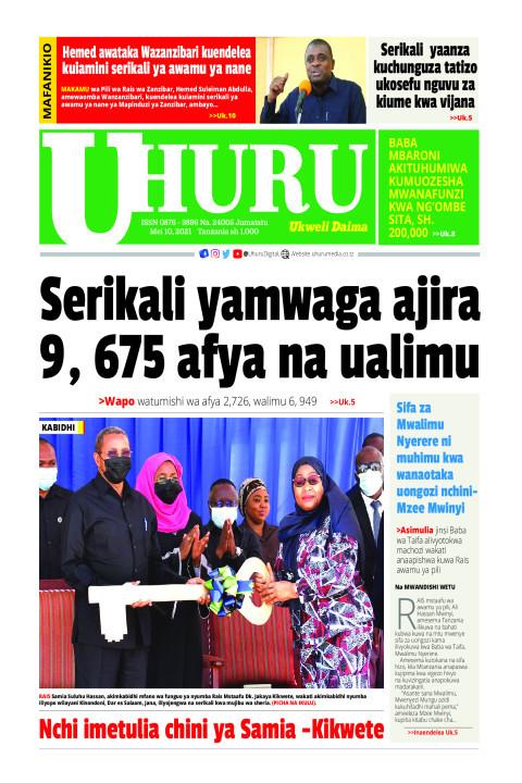 Serikali yamwaga ajira 9,675 afya na ualimu | Uhuru