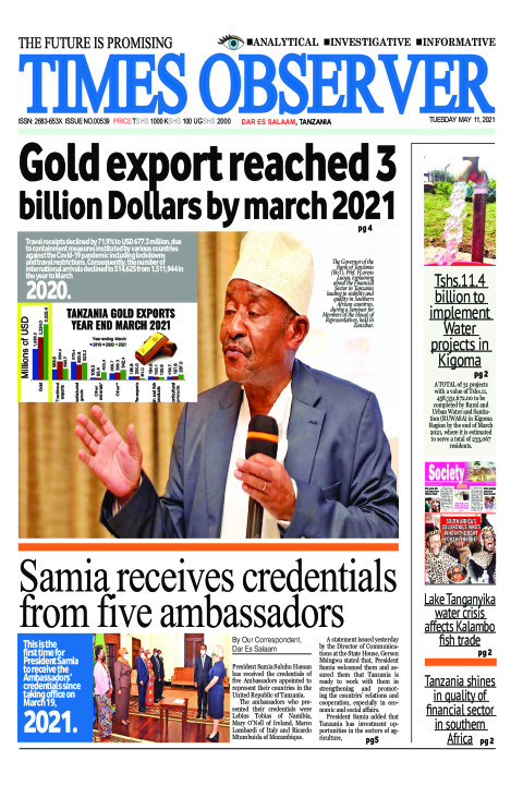 Gold export reached 3 billion Dollars by march 2021 | Times Observer