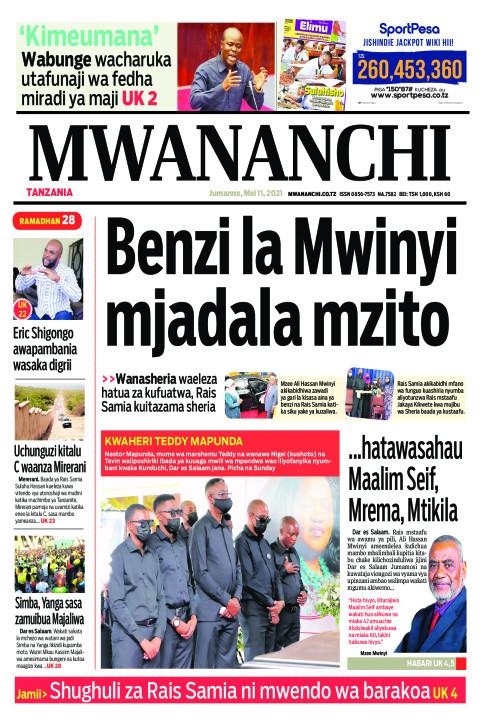 BENZI LA MWINYI MJADALA MZITO  | Mwananchi