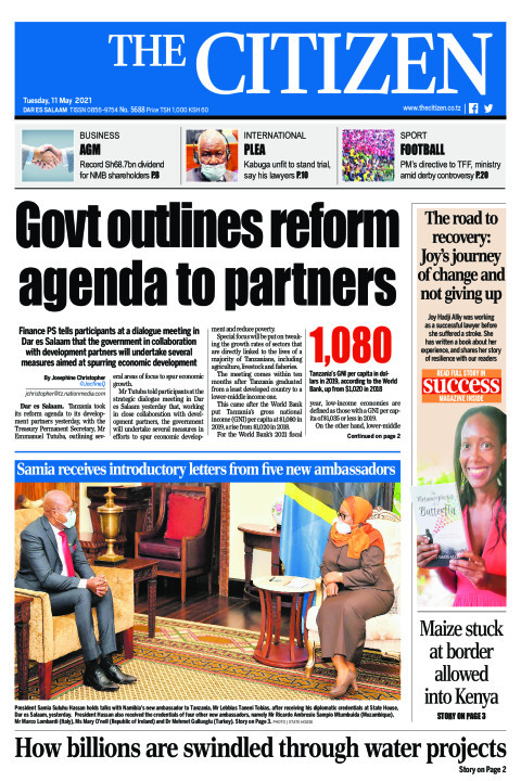 GOVT OUTLINES REFORM AGENDA TO PARTNERS