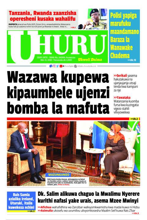 Wazawa kupewa kipaumbele ujenzi bomba la mafuta | Uhuru