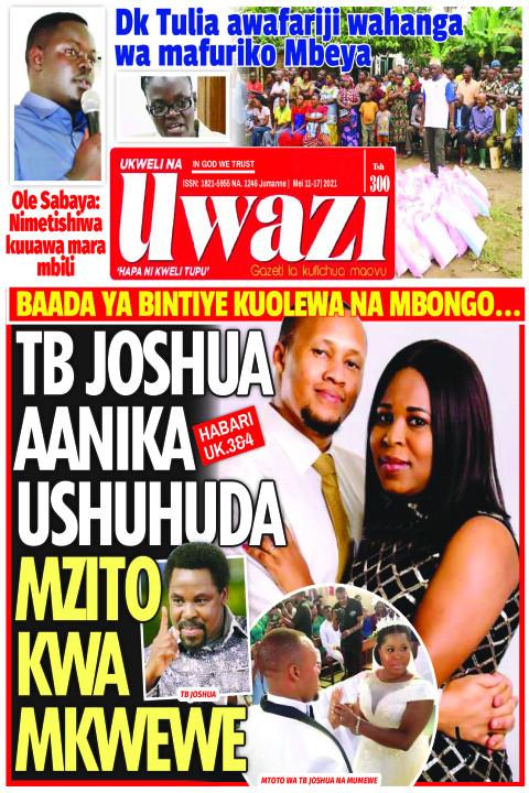 TB JOSHUA AANIKA USHUHUDA MZITO KWA MKWEWE | Uwazi