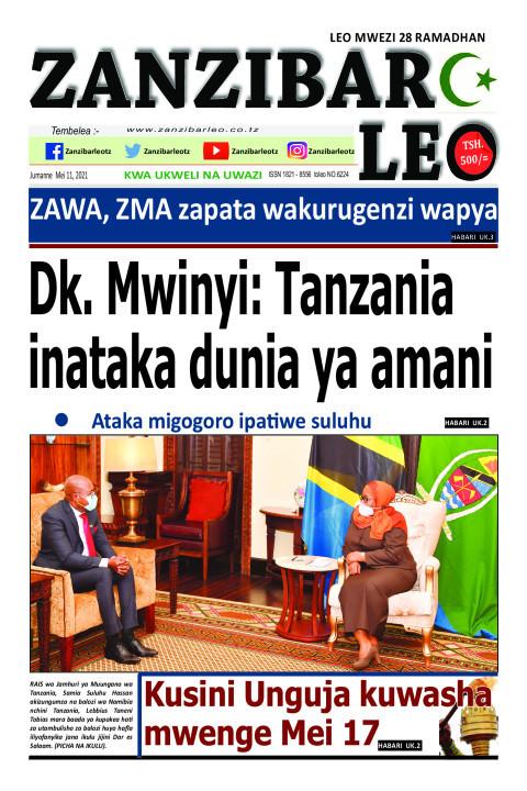 Dk. Mwinyi: Tanzania inataka dunia ya amani | ZANZIBAR LEO