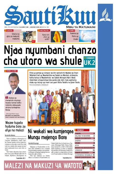 NJAA NYUMBANI, CHANZO CHA UTORO WA SHULE | Sauti Kuu Newspaper