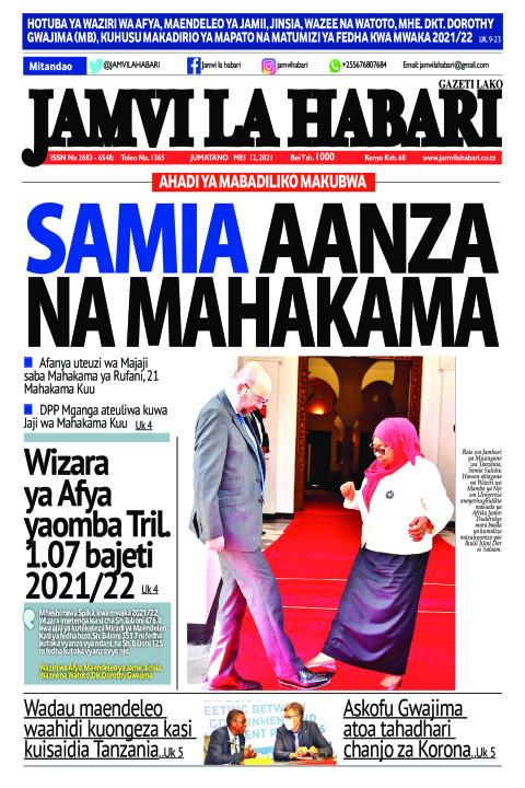 SAMIA AANZA NA MAHAKAMA   Jamvi La Habari