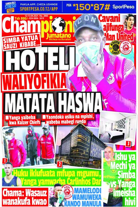 HOTELI WALIYOFIKIA SIMBA MATATA HASWA | Champion Jumatano
