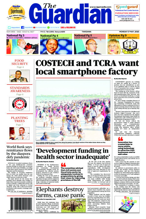 COSTECH and TCRA want local smartphone factory | The Guardian
