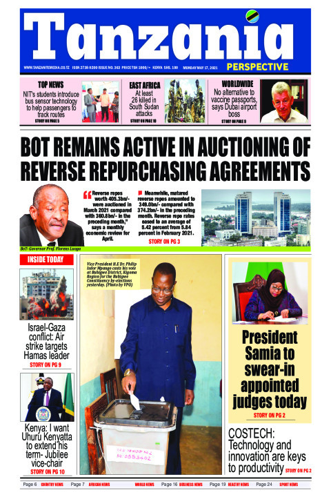 BoT remains active in auctioning reverse repurchasing of agr | Tanzania Perspective