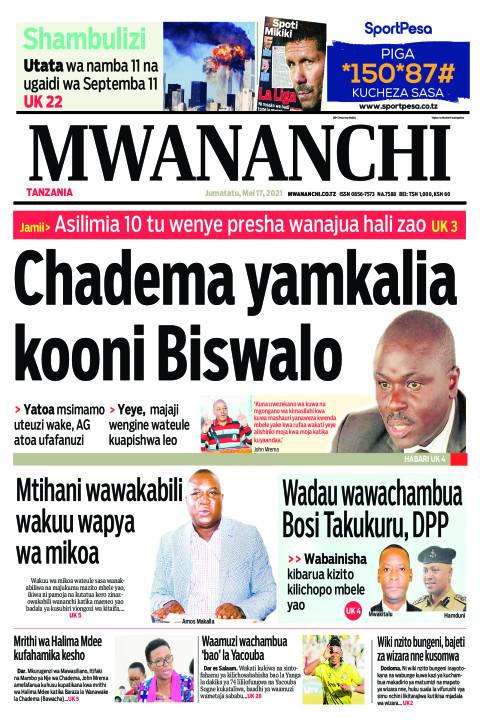 CHADEMA YAMKALIA KOONI BISWALO  | Mwananchi