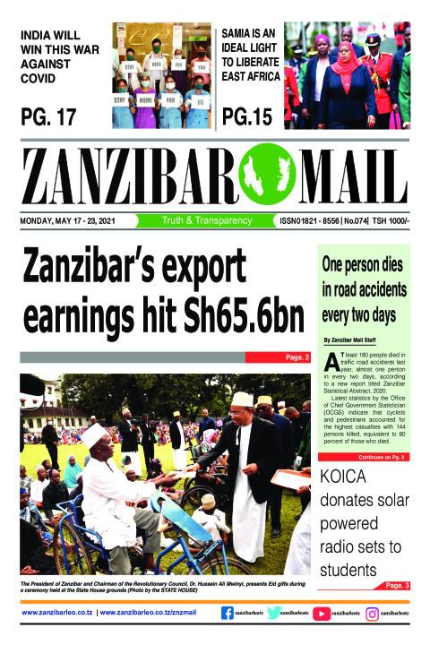 Zanzibar's export earnings hit Sh65.6bn | ZANZIBAR MAIL