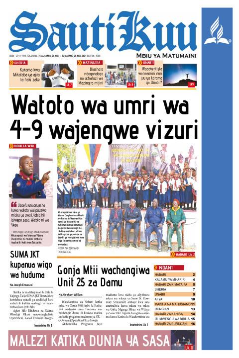 WATOTO WA UMRI WA 4-9 WAJENGWE VIZURI | Sauti Kuu Newspaper