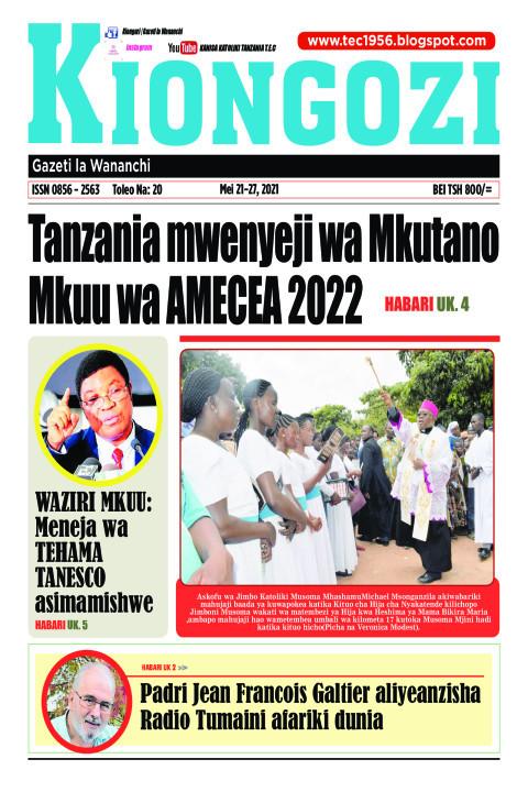 Tanzania mwenyeji wa Mkutano Mkuu wa AMECEA 2022 | Kiongozi