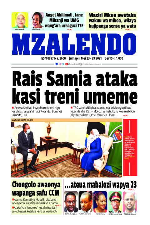Rais Samia ataka kasi treni ya umeme | Mzalendo
