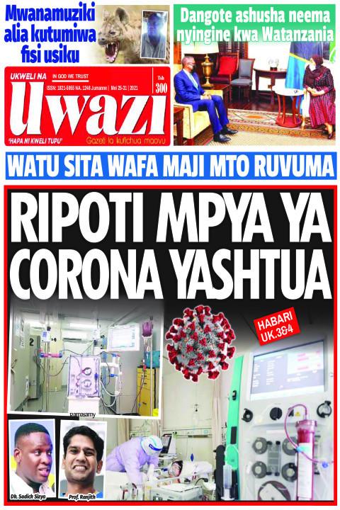RIPOTI MPYA YA CORONA YASHTUA | Uwazi