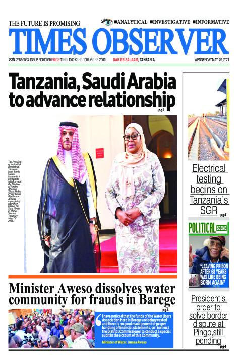 Tanzania, Saudi Arabia to advance relationship | Times Observer