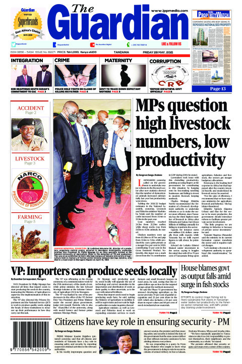MPs question high livestock numbers, low productivity | The Guardian