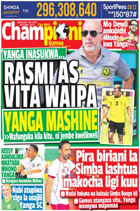 RASMI AS VITA WAIPA YANGA MASHINE | Championi Ijumaa