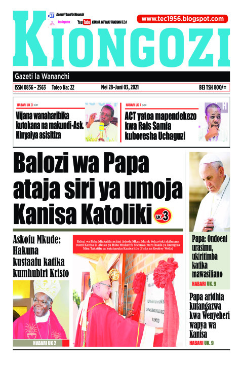 Balozi wa Papa ataja siri ya umoja Kanisa Katoliki | Kiongozi