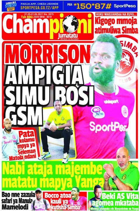 MORRISON AMPIGIA SIMU  BOSI GSM | Champion Jumatatu
