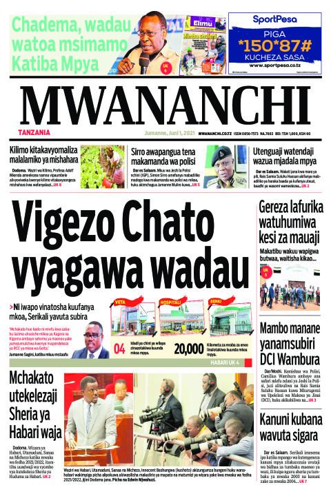 VIGEZO CHATO VYAGAWA WADAU  | Mwananchi