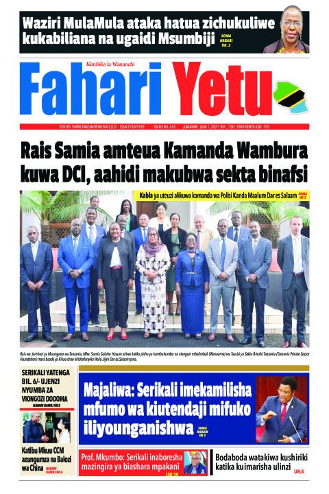 Rais Samia amteua Kamanda Wambura kuwa DCI, aahidi makubwa    Fahari Yetu