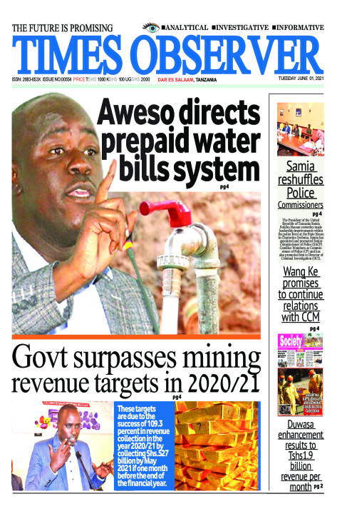 Aweso directs prepaid water bills system | Times Observer