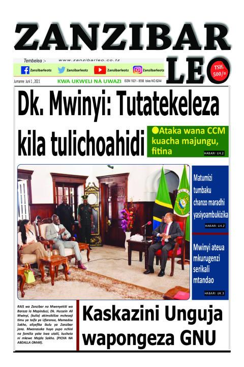 Dk. Mwinyi: Tutatekeleza kila tulichoahidi | ZANZIBAR LEO