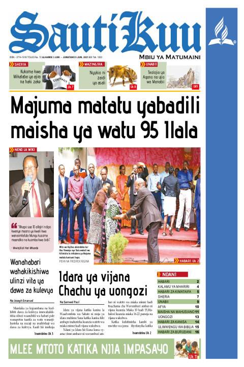 Majuma matatu yabadili maisha ya watu 95 | Sauti Kuu Newspaper