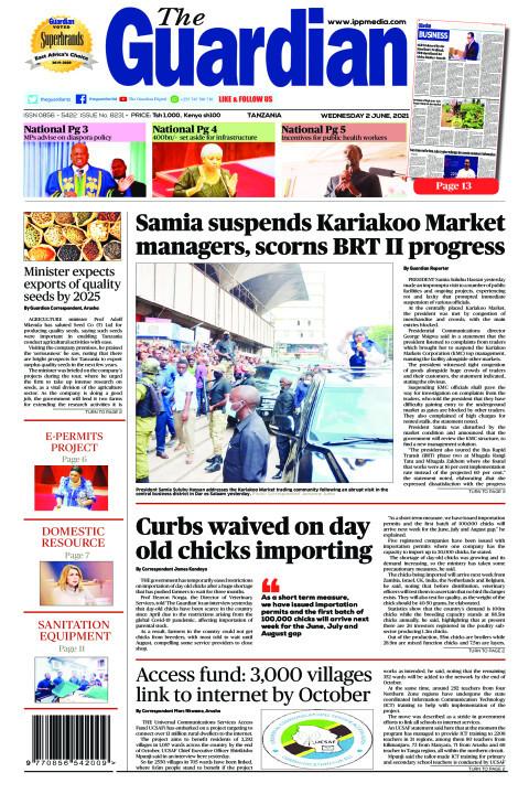 Samia suspends Kariakoo Market managers, scorns BRT II progr | The Guardian