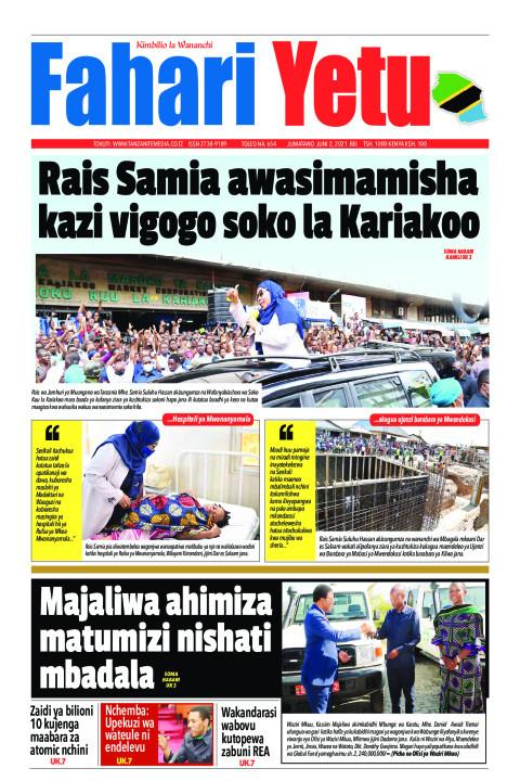 Rais Samia awasimamisha kazi vigogo soko la Kariakoo   Fahari Yetu