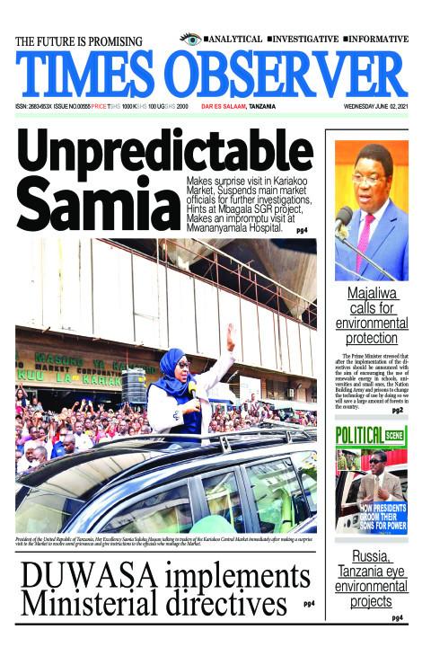 Unpredictable SamiaUnpredictable Samia | Times Observer