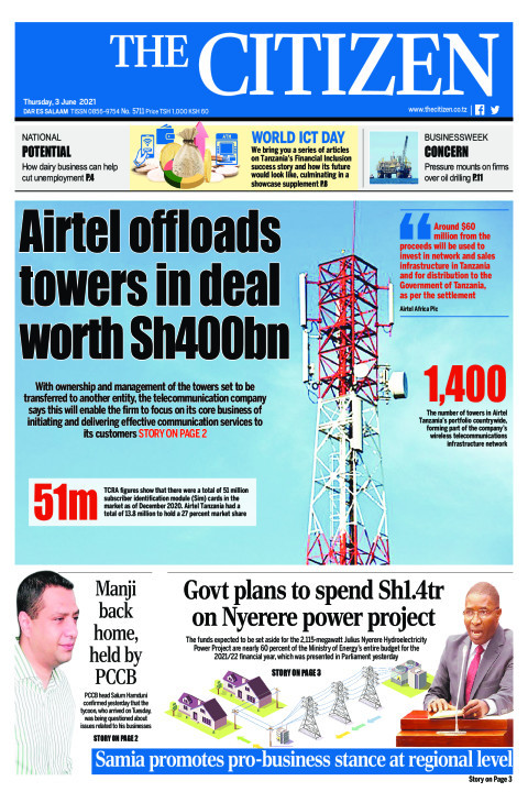 AIRTEL OFFLOADS TOWERS IN DEAL WORTH SH400BN  | The Citizen