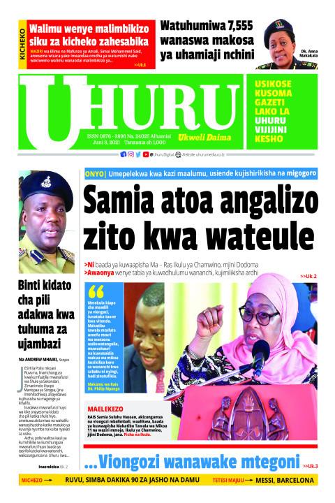 Samia atoa agizo zito kwa wateule | Uhuru