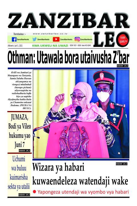 Othman: Utawala bora utaivusha Z'bar | ZANZIBAR LEO