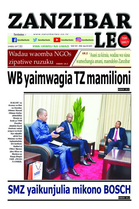 WB yaimwagia TZ mamilioni | ZANZIBAR LEO