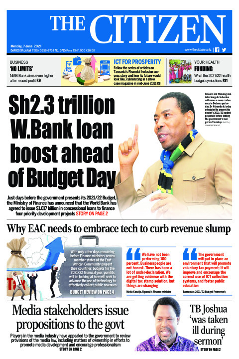 SH2.3 TRILLION W.BANK LOAN BOOS AHEAD OF BUDGET DAY  | The Citizen