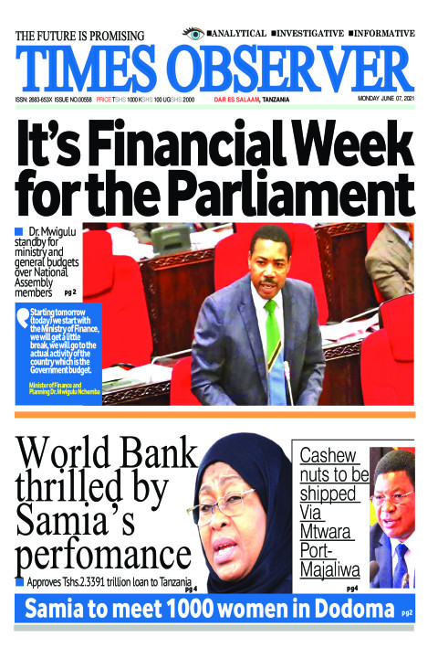 It's Financial Week for the Parliament | Times Observer