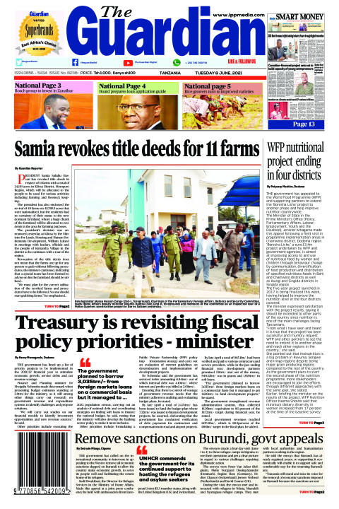 Samia revokes title deeds for 11 farms | The Guardian