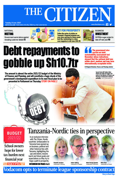 DEBT REPAYMENTS TO GOBBLE UP SH10.7TR  | The Citizen