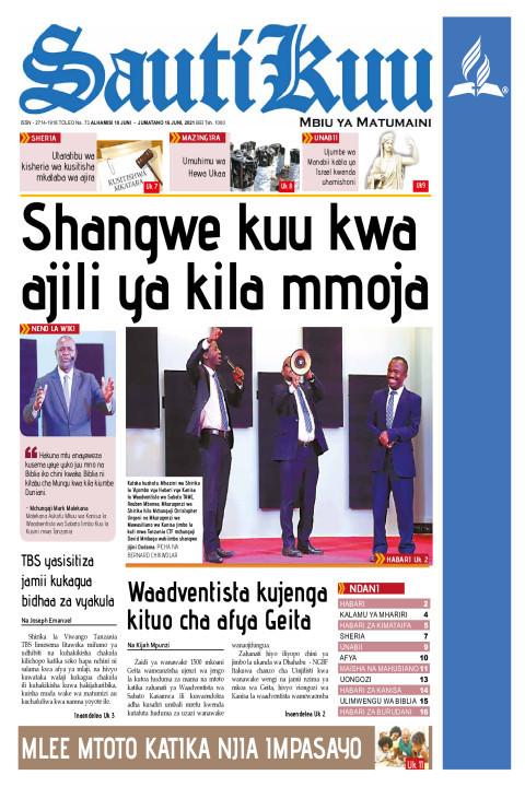 SHANGWE KUU KWA AJILI YA KILA MMOJA | Sauti Kuu Newspaper