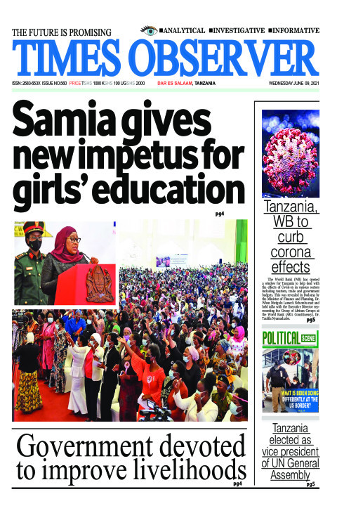 Samia gives new impetus for girls' education | Times Observer