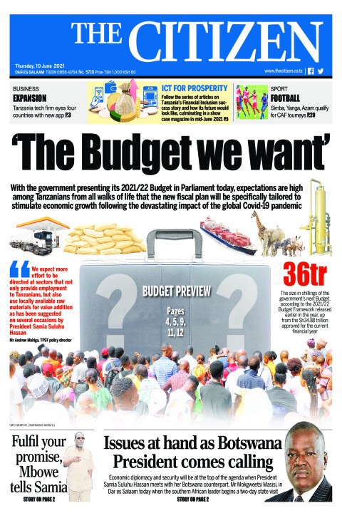 THE BUDGET WE WANT  | The Citizen