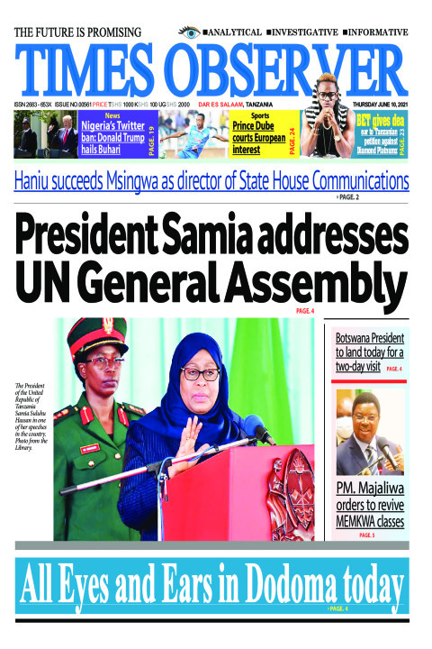 President Samia addresses UN General Assembly | Times Observer