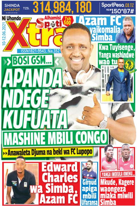 APANDA NDEGE KUFUATA MASHINE MBILI CONGO | SpotiXtra Alhamis