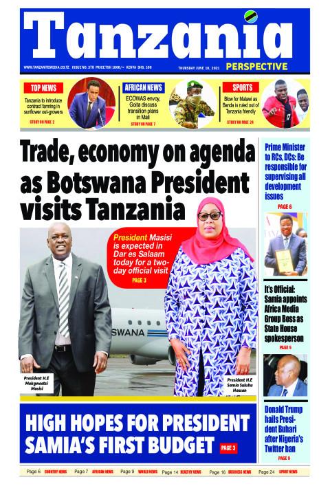 Trade, economy on agenda as Botswana President visits Tanz | Tanzania Perspective