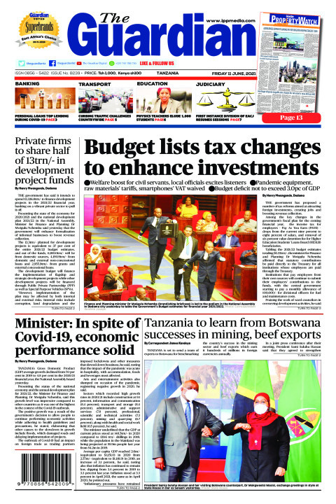 Budget lists tax changes to enhance investments | The Guardian
