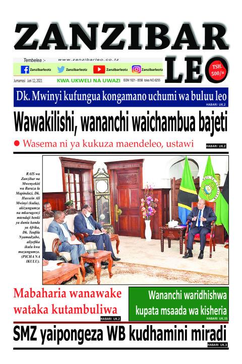 Wawakilishi, wananchi waichambua bajeti | ZANZIBAR LEO